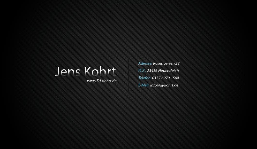 Visitenkarte von Jens Kohrt